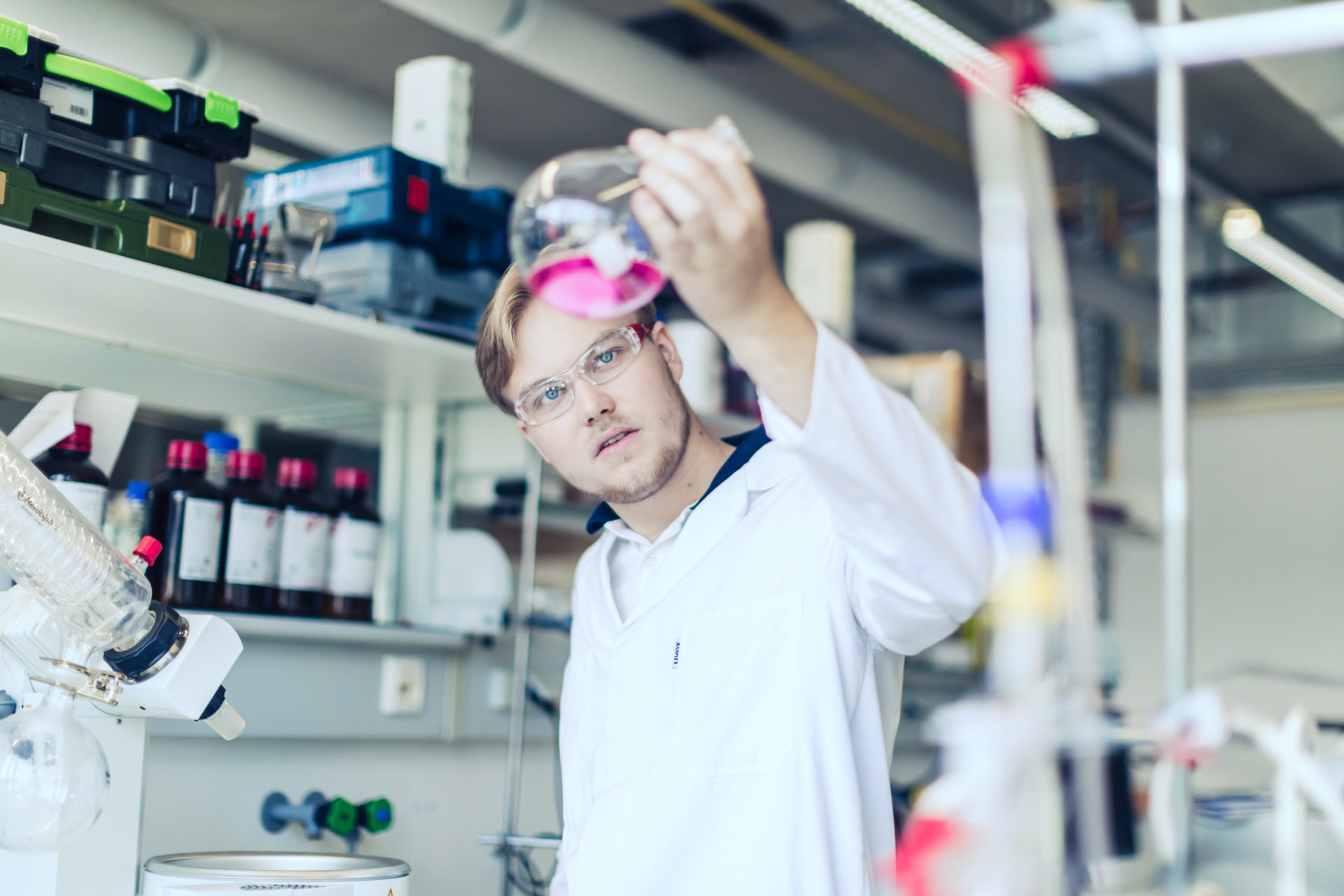 Student im Labor