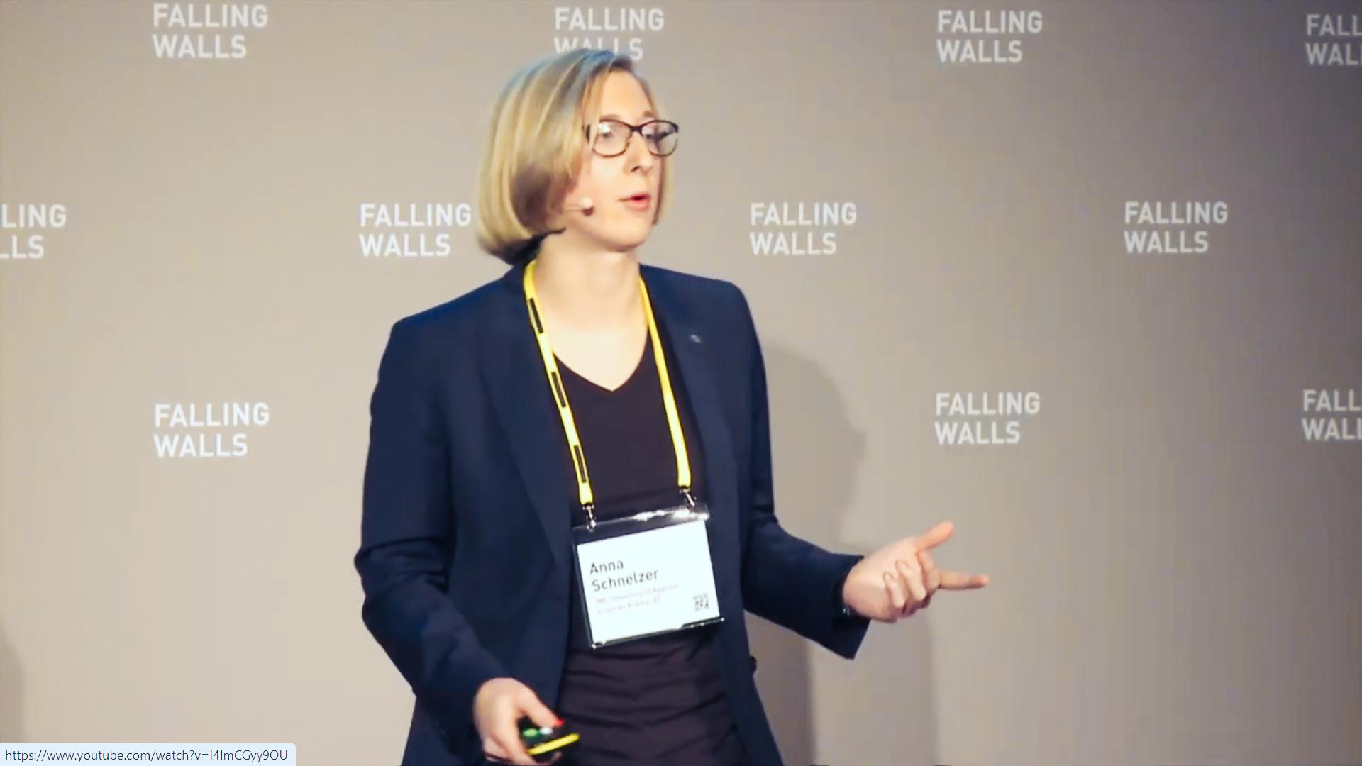 Anna Schnelzer at Falling Walls Pitch